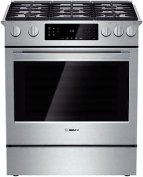 "Bosch 800 Series HGI8054UC - 30"" Slide-In Gas Range"