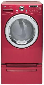 LG SteamDryer Series DLEX7177WM - View of Wild Cherry Red