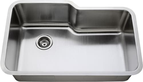 Empire Industries Sp19c 32 Inch Single Bowl Undermount Kitchen Sink With With High Capacity Basin Soundproofing Technology And Corrosion Resistant