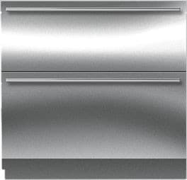 "Sub-Zero ID36R - 36"" Integrated All-Refrigerator Drawers (shown with optional Stainless Steel panels)"
