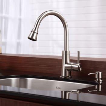 Kraus Kitchen Combo Series KBU12KPF2220KSD30SN - Satin Nickel Finish Hardware
