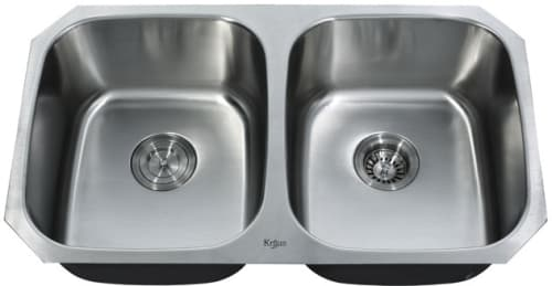 Kraus KBU22 - Double Bowl Stainless Steel Sink