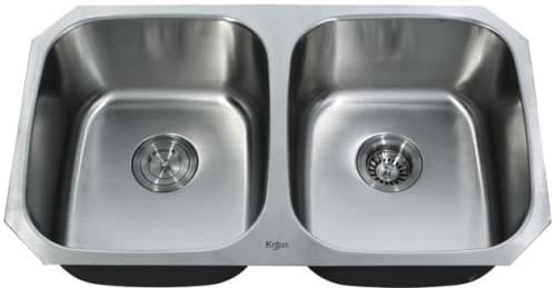 Kraus KBU22 - Double Bowl Stainless Steel Sink