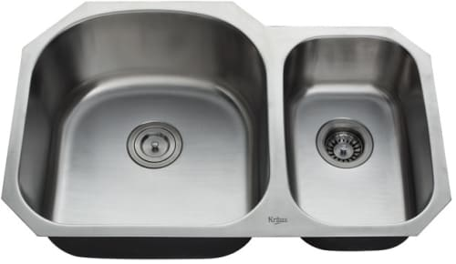 Kraus Kitchen Combo Series KBU23KPF2110SD20 - Double Bowl Stainless Steel Sink