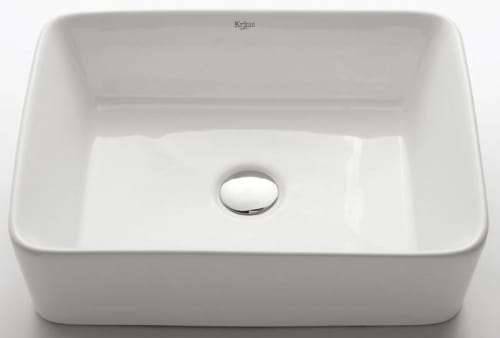 Kraus White Ceramic Series KCV121CH - White Rectangular Ceramic Sink