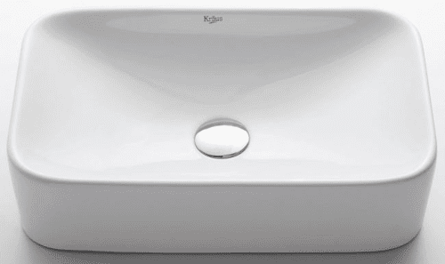 Kraus White Ceramic Series KCV122CH - White Ceramic Sink