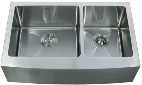 Kraus KHF20333 - Stainless Steel Double Bowl Apron Sink