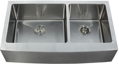 Kraus KHF20336 - Stainless Steel Double Bowl Apron Sink