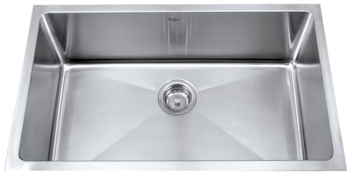 Kraus Kitchen Sink Series KHU10030 - Single Bowl Stainless Steel Sink