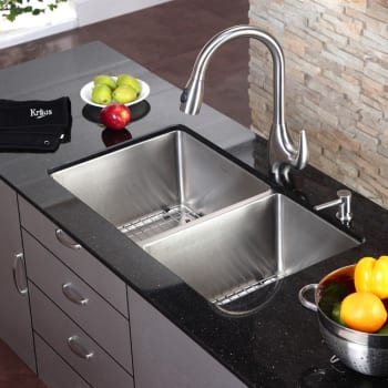 Kraus Kitchen Combo Series KHU10333KPF2170SD20 - Kitchen Sink and Faucet Combo
