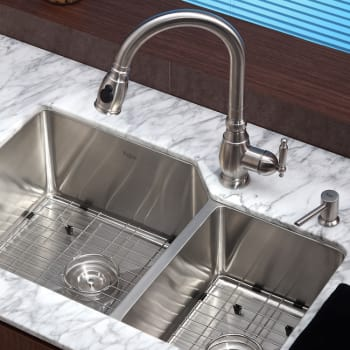 "Kraus Kitchen Combo Series KHU12332KPF2150SD20 - 32"" Undermount Stainless Steel Sink"