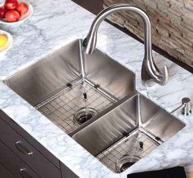 Kraus Kitchen Combo Series KHU12332KPF2170SD20 - Kitchen Sink and Faucet Combo