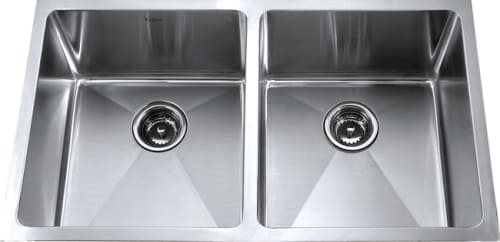 Kraus Kitchen Combo Series KHU10233KPF2160SD20 - Stainless Steel Double Bowl Sink