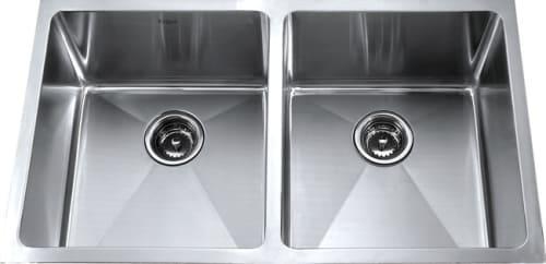 Kraus Kitchen Combo Series KHU10233KPF2160SD20 - Stainless Steel Double Bowl Sink