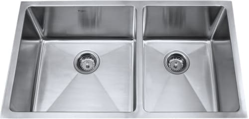 Kraus Kitchen Combo Series KHU10333KPF2130SD20 - Stainless Steel Double Bowl Sink