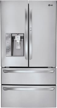LG LMX30995ST - 30.3 Cu. Ft. French Door Refrigerator with Double Freezer Drawers