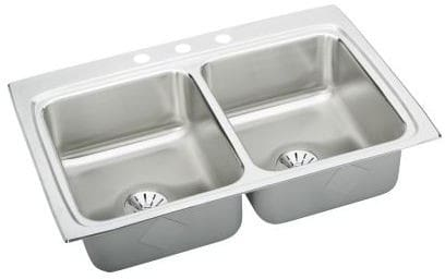 Elkay Gourmet Perfect Drain Collection Lustertone Collection LR3322PD3 - Featured View