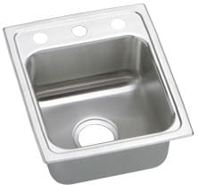 Elkay Gourmet Lustertone Collection LRAD1517450 - Stainless Steel Sink