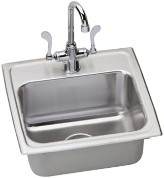 Elkay Lustertone ADA Collection LRAD171660SC - Stainless Steel Sink Package