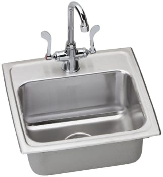 Elkay Lustertone ADA Collection LRAD171660C - Stainless Steel Sink Package