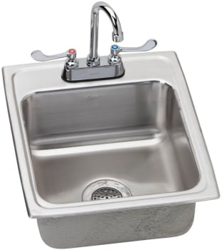 Elkay Lustertone ADA Collection LRAD172055C - Stainless Steel Sink Package