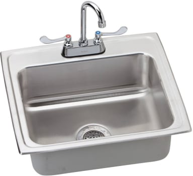 Elkay Lustertone ADA Collection LRAD221965C - Stainless Steel Sink Package
