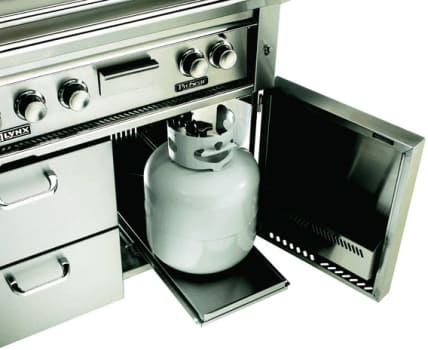 Lynx Professional Grill Series LSTLP - View of Tank Tray and Stainless Steel Cover