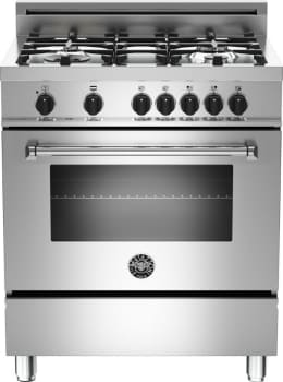 "Bertazzoni Master Series MAS304DFMXE - 30"" 4-Burner, Electric Oven"