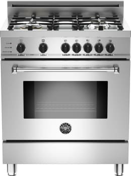 "Bertazzoni Master Series MAS304DFSXTLP - 30"" 4-Burner, Electric Self-Clean Oven"