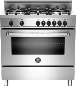 "Bertazzoni Master Series MAS365DFMXE - 36"" 5-Burner, Electric Oven"