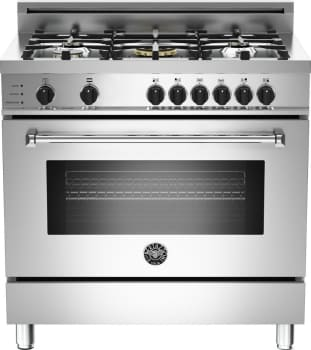 "Bertazzoni Master Series MAS365DFSXT - 36"" 5-Burner, Electric Self-Clean Oven"