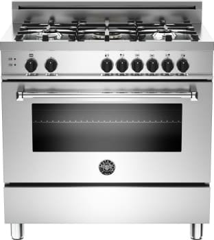 "Bertazzoni Master Series MAS365GASXE - 36"" 5-Burner, Gas Oven"
