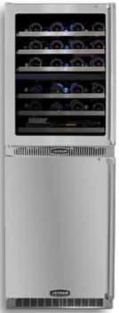 "Marvel Professional Series MPRO66DZARBSGLL - 24"" Dual Wine Zone Cellar and Refrigerator"