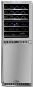 "Marvel Professional Series MPRO66DZARBSGLR - 24"" Dual Wine Zone Cellar and Refrigerator"