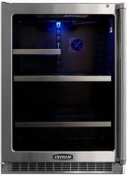 "Marvel Professional Series MPRO6GARMBSLL - 24"" Undercounter Glass Door Refrigerator and Beverage Center"