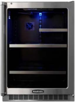 "Marvel Professional Series MPRO6GARMBSLR - 24"" Undercounter Glass Door Refrigerator and Beverage Center"