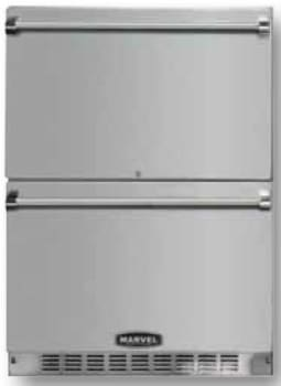 """Marvel Professional Series MPRO6RDEBS - 24"""" Double Drawer Refrigerator"""
