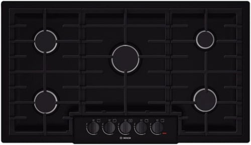 Bosch 800 Series NGM8665UC - 37 Inch Gas Cooktop with 5 Sealed Burners