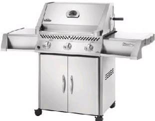 Napoleon Prestige I RB Series P450RBNSS - 65-in. Freestanding Stainless Steel Natural Gas Grill