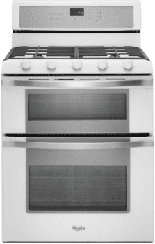 Whirlpool Wgg755s0bh 30 Inch Freestanding Gas Double Oven Range With