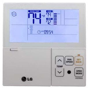 LG PREMTB10U - Multi-V Wired 7-Day Programmable Thermostat