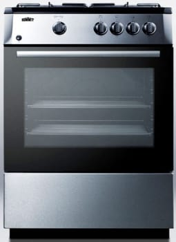 "Summit PRO24G - 24"" Slide-In Look Gas Range"
