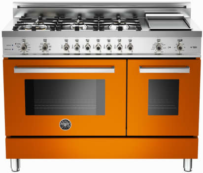 Bertazzoni Professional Series PRO486GDFSAR - Orange