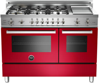Bertazzoni Professional Series PRO486GGASROLP - Red