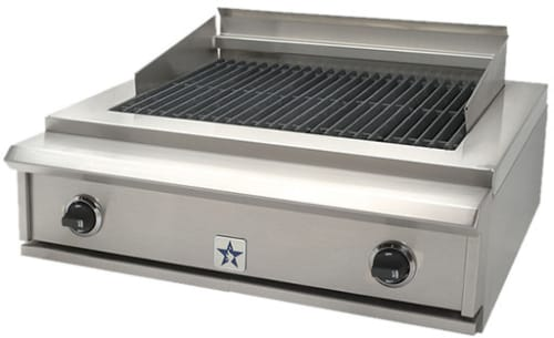 BlueStar PRZIDCB30 30 Inch Indoor Charbroiler with Two 15,000 BTU ...