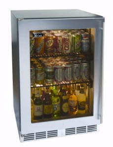 Perlick ADA Compliant Models HA24RB3R - 24-inch Built-in Refrigerator w/ Stainless Steel Glass Door