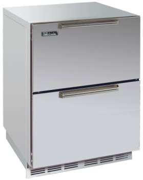 Perlick Signature Series HP24FO5 - 24-inch Stainless Freezer w/ Stainless Steel Drawers