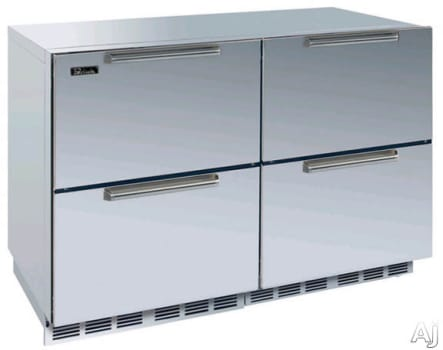 "Perlick Signature Series HP48FRS55 - 48"" Freezer/Refrigerator Combination with Stainless Steel Drawers"