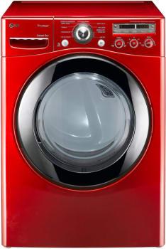 LG SteamDryer Series DLEX2450R - Wild Cherry Red