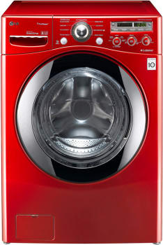 LG SteamWasher Series WM2450HRA - Wild Cherry Red
